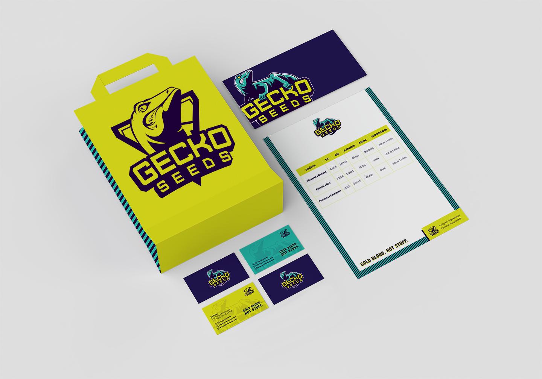 Brand identity Gecko Seeds