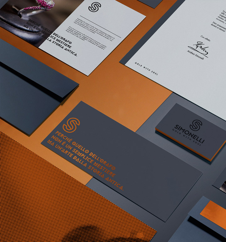 Brand Identity Simonelli laboratorio orafo