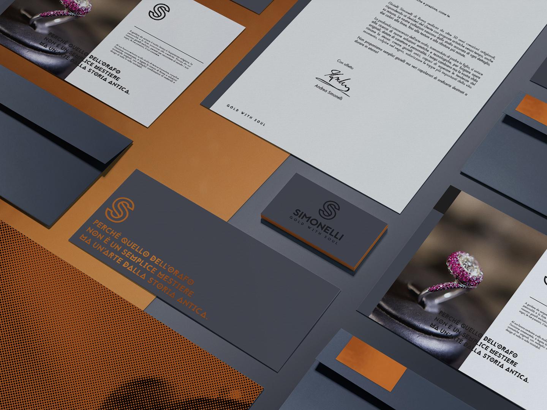 Brand identity oreficeria Simonelli