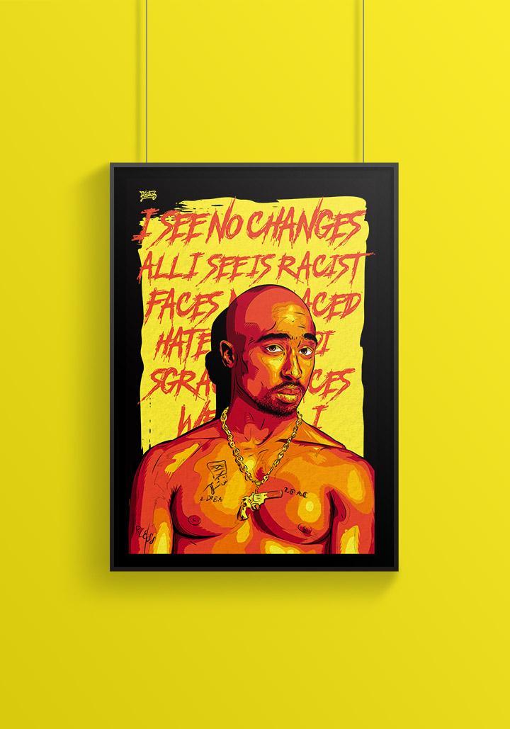 Tupac illustration