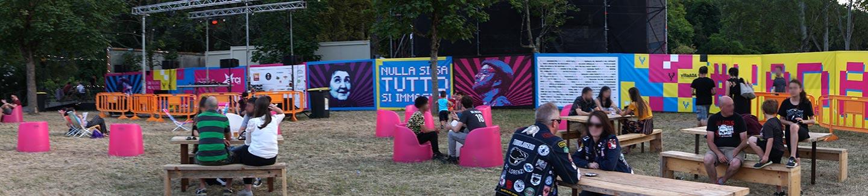 Allestimento interno Villa Ada festival 2019
