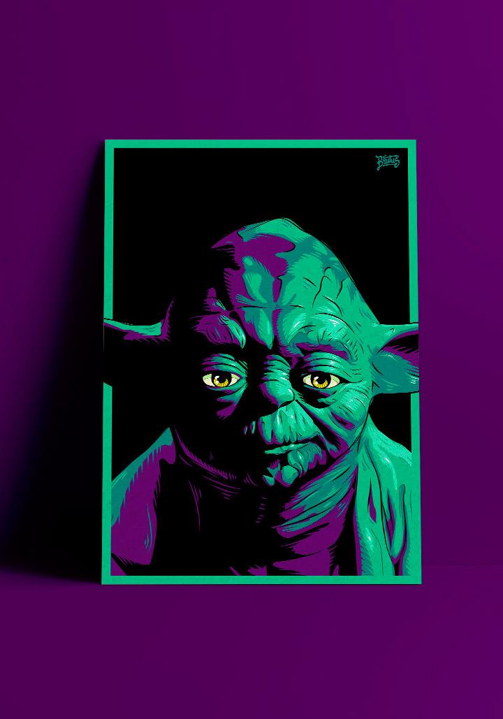 Jedi Master Yoda illustration